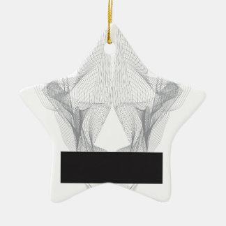 Crâne abstrait d'ours ornement étoile en céramique