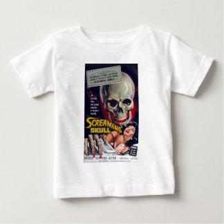 Crâne criard t-shirt pour bébé