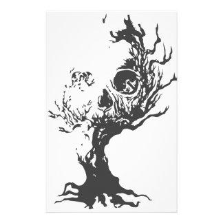 Crâne d'arbre de Halloween Papeterie