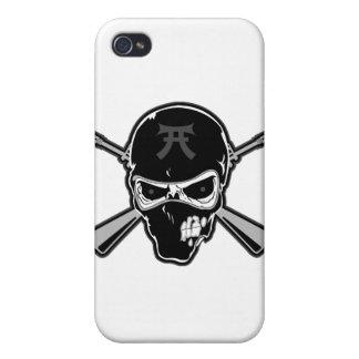 Crâne de Buttstock et fusils croisés Étuis iPhone 4