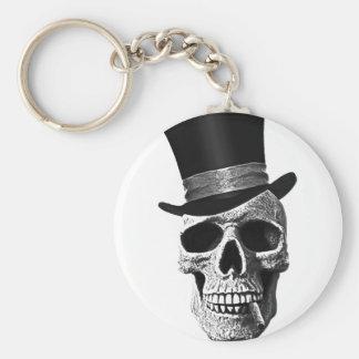 Crâne de casquette supérieur porte-clé rond