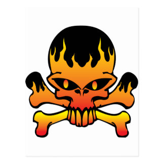 Crâne de flamme carte postale