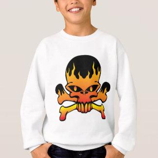 Crâne de flamme sweatshirt
