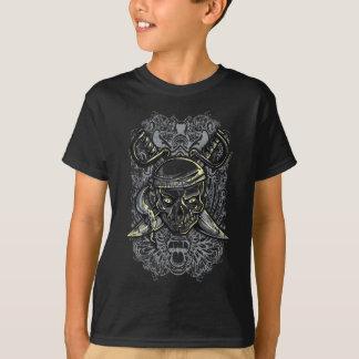 Crâne de pirate et T-shirt d'enfants d'épées
