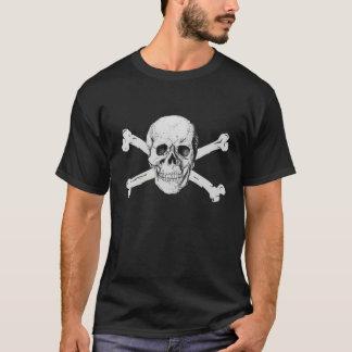Crâne de pirate et T-shirt d'os croisés