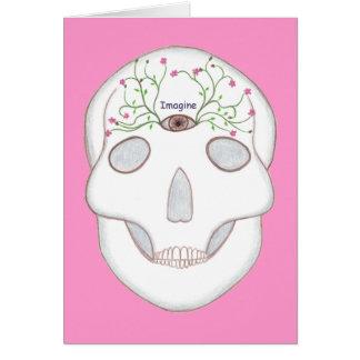 Crâne de sucre avec des cartes de troisième oeil