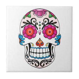 Crâne de sucre - jour des morts, tatouage, Mexique Carreau