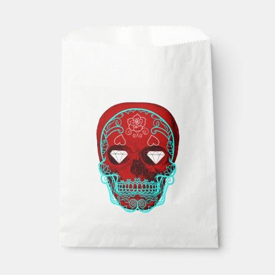 Crâne de sucre sachets en papier