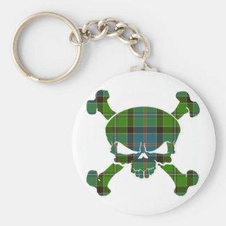 Crâne de tartan de Stirling aucune bannière Porte-clés