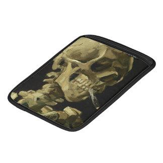Crâne de Van Gogh | avec la cigarette brûlante | Poches iPad