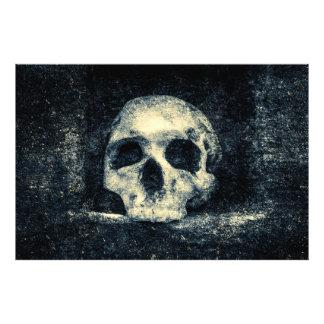 Crâne d'horreur de Halloween Impression Photo