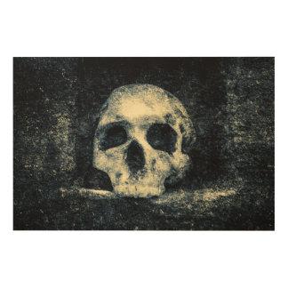 Crâne d'horreur de Halloween Impression Sur Bois