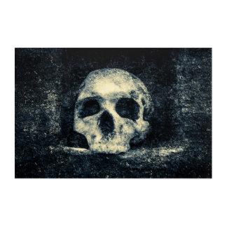Crâne d'horreur de Halloween Impressions En Acrylique