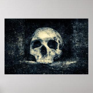 Crâne d'horreur de Halloween Poster