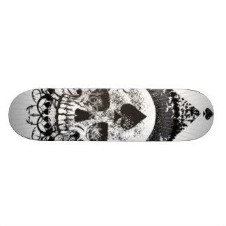 Crâne du Skateboarding noir de couronne de pelles Plateau De Skate