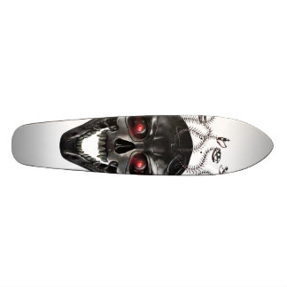 Crâne en métal de méduse plateaux de planche à roulettes