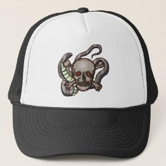 Crâne et casquette de serpents