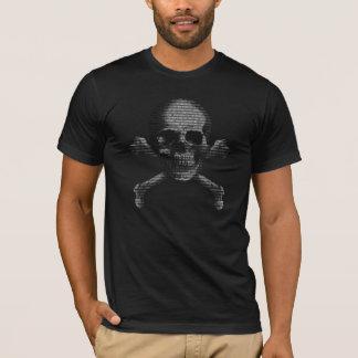 Crâne et os croisés de pirate informatique t-shirt