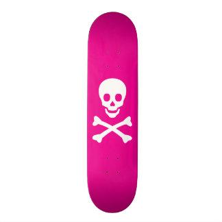 Crâne et os croisés skateboards personnalisés