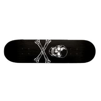 Crâne et planche à roulettes d'os croisés skateboard  20 cm
