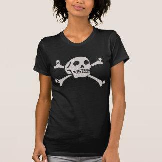 Crâne et T-shirt d'os croisés