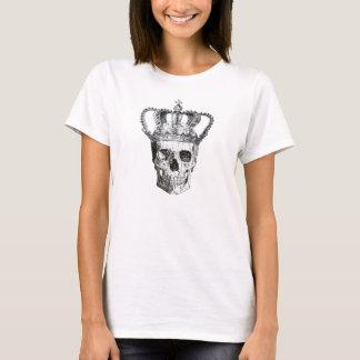 Crâne gothique vintage avec le T-shirt de couronne