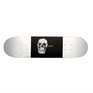 crâne peint à la main original de planche à skateboards customisés