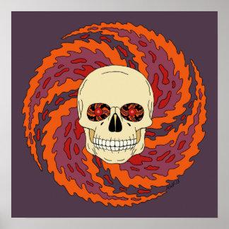 Crâne psychédélique poster