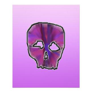 Crâne rose et pourpre prospectus 11,4 cm x 14,2 cm