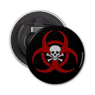 Crâne rouge et os croisés de Biohazard Décapsuleur