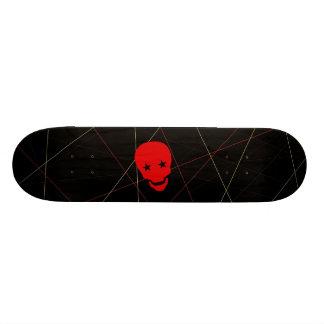Crâne rouge planche à roulette