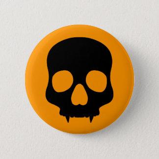 Crâne simple de Halloween Badge Rond 5 Cm