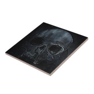 Crâne squelettique médical gothique de rayon X Carreau
