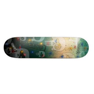 Crâne Teal Plateaux De Skateboards