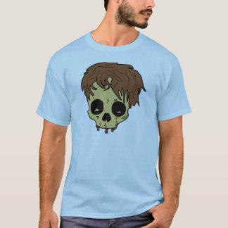 Crâne velu de dessus de balai t-shirt