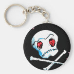 """Crânes et coeurs d'Emo : """"Je t'aime accessoire de  Porte-clés"""