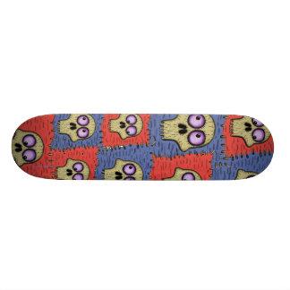 Crânes frais drôles sur la planche à roulettes de mini skateboard 18,4 cm