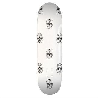Crânes morts de sucre de damassé skateboard 19,7 cm