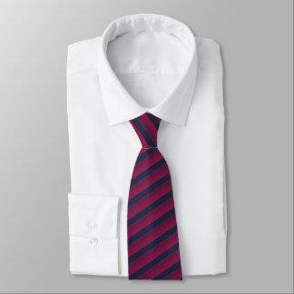 Cravate Affaires bleues, rouges et marron rayées