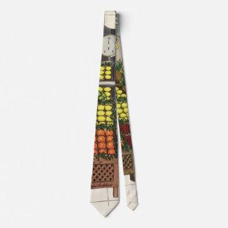 Cravate Affaires vintages, support de fruit avec l'épicier