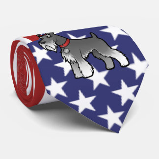 Cravate Ajoutez votre propres animal familier et drapeau
