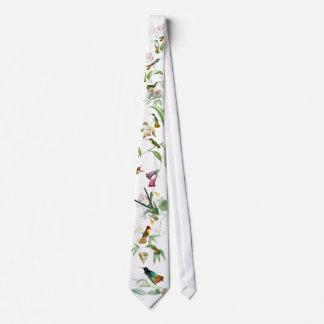 Cravate Animaux floraux de faune de fleurs d'oiseaux de
