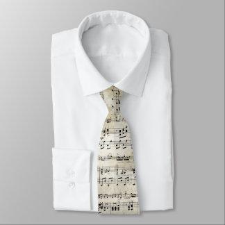 Cravate antique de feuille de musique