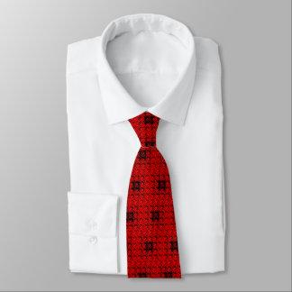 Cravate Armure rouge et rouge de gaufre