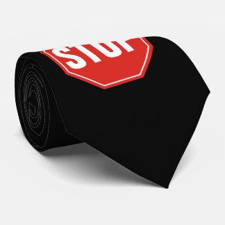 Cravate ARRÊTEZ le signe