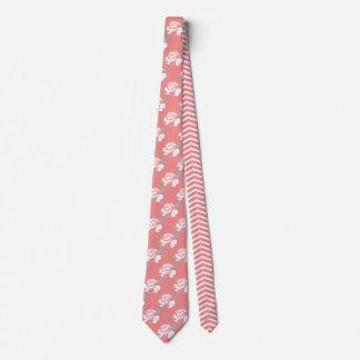 Cravate Art blanc de menthe de rose de motif rose floral