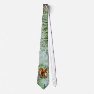 Cravate Art mignon de nature animale d'écureuil rouge