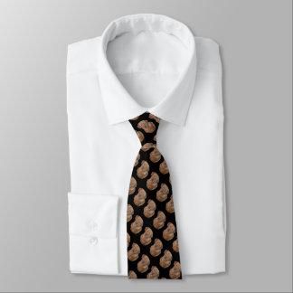 Cravate art réaliste original de Labrador de portrait d'or