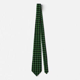 Cravate Automne vert d'automne de motif de plaid de