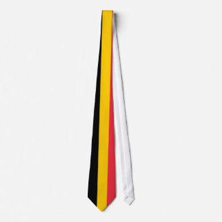 Cravate avec le drapeau de la Belgique